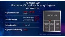 全球最强服务器处理器华为鲲鹏920投入商用,7nm带来高能效